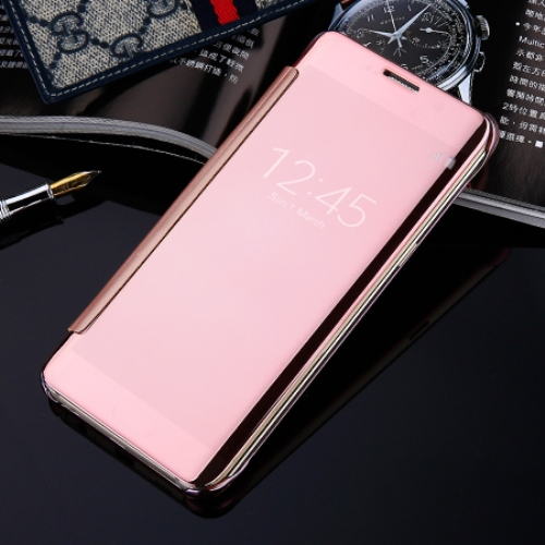 Оригинален калъф Clear View Cover EF-ZG935C за Samsung Galaxy S7 Edge G935  - Rose Gold. Previous Slide Next Slide 10ac6ae42b11