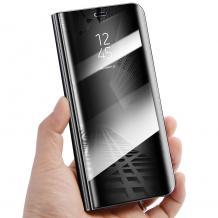 Луксозен калъф Clear View Cover с твърд гръб за Xiaomi Redmi Note 7 - черен