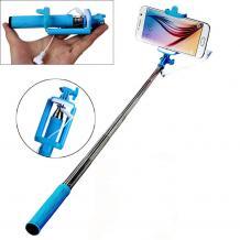Мини селфи стик / Mini Selfie Stick Handheld Monopod - син