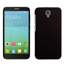 Твърд гръб / капак / за Alcatel One Touch Idol 2 OT-6037K - черен / мат