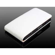 Кожен калъф Flip тефтер за Sony Xperia Go ST27i - бял