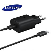 Оригинално зарядно 220V за Samsung Galaxy A72 / A72 5G Fast Charger / Type-C - черно