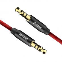 Аудио кабел AUX BASEUS YIVEN M30 3.5мм 0,5m - черен с червено