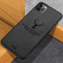 """Луксозен гръб Deer за Apple iPhone 11 Pro 5.8"""" - черен"""