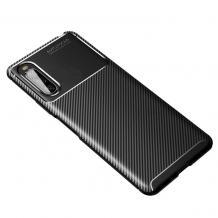 Луксозен силиконов калъф / гръб / TPU Auto Focus за Sony Xperia 10 II - черен / Carbon