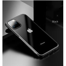 Луксозен гръб USAMS Janz Series за Apple iPhone 11 - прозрачен / черен кант