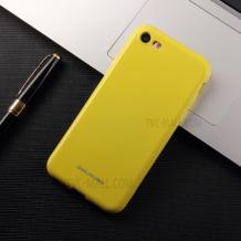 Силиконов калъф / гръб / Molan Cano Glossy Jelly Case за Apple iPhone 7 / iPhone 8 - жълт / гланц / брокат