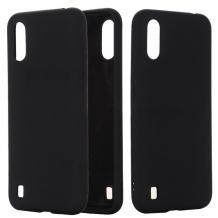 Луксозен силиконов калъф / гръб / Nano TPU за Samsung Galaxy A01 - черен