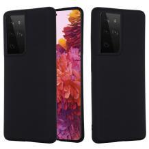 Луксозен силиконов калъф / гръб / Nano TPU за Samsung Galaxy S21 Ultra - черен