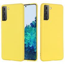 Луксозен силиконов калъф / гръб / Nano TPU за Samsung Galaxy S21 - жълт