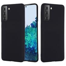 Луксозен силиконов калъф / гръб / Nano TPU за Samsung Galaxy S21 - черен