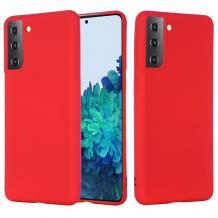Луксозен силиконов калъф / гръб / Nano TPU за Samsung Galaxy S21 - червен