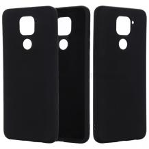 Луксозен силиконов калъф / гръб / Nano TPU за Xiaomi Redmi Note 9 - черен