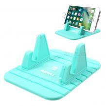 Универсална стойка за кола REMAX Fairy за Samsung, LG, HTC, Sony, Nokia, Huawei, ZTE, Apple, BlackBerry, Lenovo и други - светло зелена