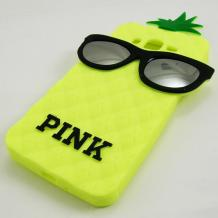 Силиконов калъф / гръб / TPU 3D за Samsung Galaxy Grand Prime G530 - жълт ананас / очила