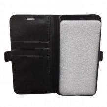 Кожен калъф Flip тефтер за Lenovo Moto G5S - черен / Flexi