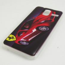 Силиконов калъф / гръб / TPU за Lenovo S580 - червено / Ferrari