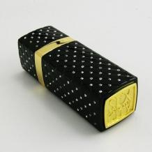 Mини USB зарядно за кола / Mini USB Car Charger Sex And The City 12V-24V / 5V-2.1A - черно / червило