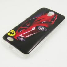 Силиконов калъф / гръб / TPU за Lenovo A859 - червено / Ferrari