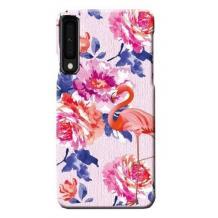 Силиконов калъф / гръб / TPU LUXO за Samsung Galaxy A10 - цветя / розово фламинго