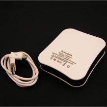Външна батерия / Universal Battery Pack / Micro USB Data Cable 5V-2.1A 12000mAh за Apple - бял