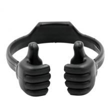 Универсална силиконова стойка / Universal TPU Holder OK Stand / 6 - 22cm - черен / Hands