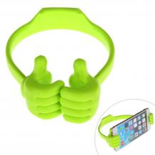 Универсална силиконова стойка / Universal TPU Holder OK Stand / 6 - 22cm - зелен / Hands