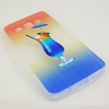 Ултра тънък силиконов калъф / гръб / TPU Ultra Thin за Samsung Galaxy A3 SM-A300F - коктейл / Art 1