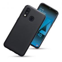 Силиконов калъф / гръб / TPU за Motorola One Vision - черен / мат