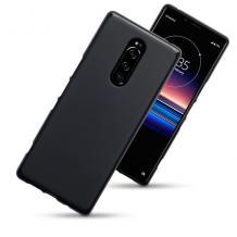 Силиконов калъф / гръб / TPU за Sony Xperia 1 - черен / мат