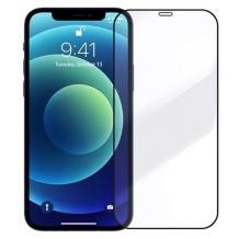 """3D full cover Tempered glass Full Glue screen protector Apple iPhone 12 / 12 Pro 6.1"""" / Извит стъклен скрийн протектор с лепило от вътрешната страна за Apple iPhone 12 / 12 Pro 6.1"""" - черен"""