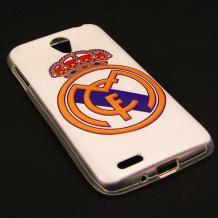 Силиконов калъф / гръб / TPU за Lenovo S650 - FC Real Madrid