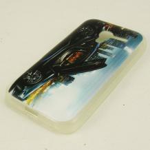 Силиконов калъф / гръб / TPU за Telenor Smart Mini - цветен / черна кола