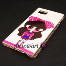 Силиконов калъф / гръб / TPU за Lenovo K920 Vibe Z2 Pro - бял / Cute Girl