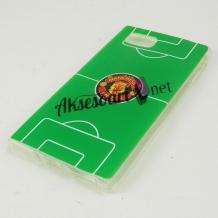 Силиконов калъф / гръб / TPU за Lenovo K920 Vibe Z2 Pro - зелен / Manchester United