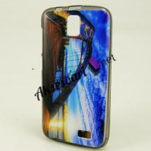 Силиконов калъф / гръб / TPU за Lenovo A328 - цветен / пейзаж