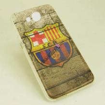 Силиконов калъф / гръб / TPU за Microsoft Lumia 650 - FC Barcelona / Retro Style
