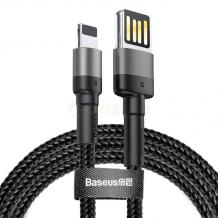 Оригинален USB кабел BASEUS Cafule Lightning Cable Special Edition за зареждане и пренос на данни - черен