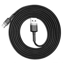 Оригинален USB кабел BASEUS Cafule Cable Type-C за зареждане и пренос на данни - черен