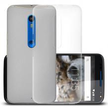 Ултра тънък силиконов калъф / гръб / TPU Ultra Thin за Motorola Moto X Style - прозрачен