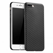 Ултра тънък силиконов калъф / гръб / TPU Ultra Thin за Apple iPhone 7 Plus / iPhone 8 Plus - черен / Carbon