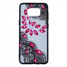 Силиконов калъф / гръб / TPU за Samsung Galaxy S8 Plus G955 - червени камъни