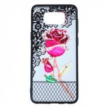 Силиконов калъф / гръб / TPU за Samsung Galaxy S8 Plus G955 - цикламена роза