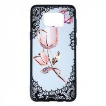 Силиконов калъф / гръб / TPU за Samsung Galaxy S8 Plus G955 - роза / пеперуда