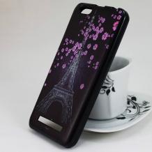 Силиконов калъф / гръб / TPU за Asus Zenfone 4 Max ZC520KL - Eiffel Tower / Айфелова кула / цветя