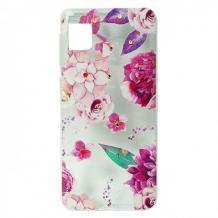 Луксозен гръб с камъни за Apple iPhone 11 Max - Розови цветя