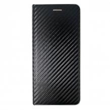Луксозен кожен калъф Flip тефтер bSmart за Samsung Galaxy A50 - черен / carbon