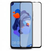 3D full cover Tempered glass Full Glue screen protector Huawei Mate 30 Lite / Извит стъклен скрийн протектор с лепило от вътрешната страна за Huawei Mate 30 Lite - черен