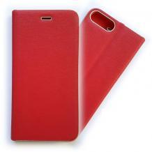 Луксозен кожен калъф Flip тефтер Vennus за Apple iPhone 7 / iPhone 8 - червен