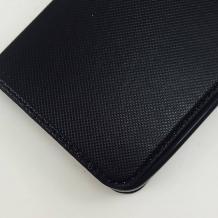 Кожен калъф Flip тефтер S-View със стойка за Lenovo Vibe K5 Note A7020 - черен / ромбове / Flexi